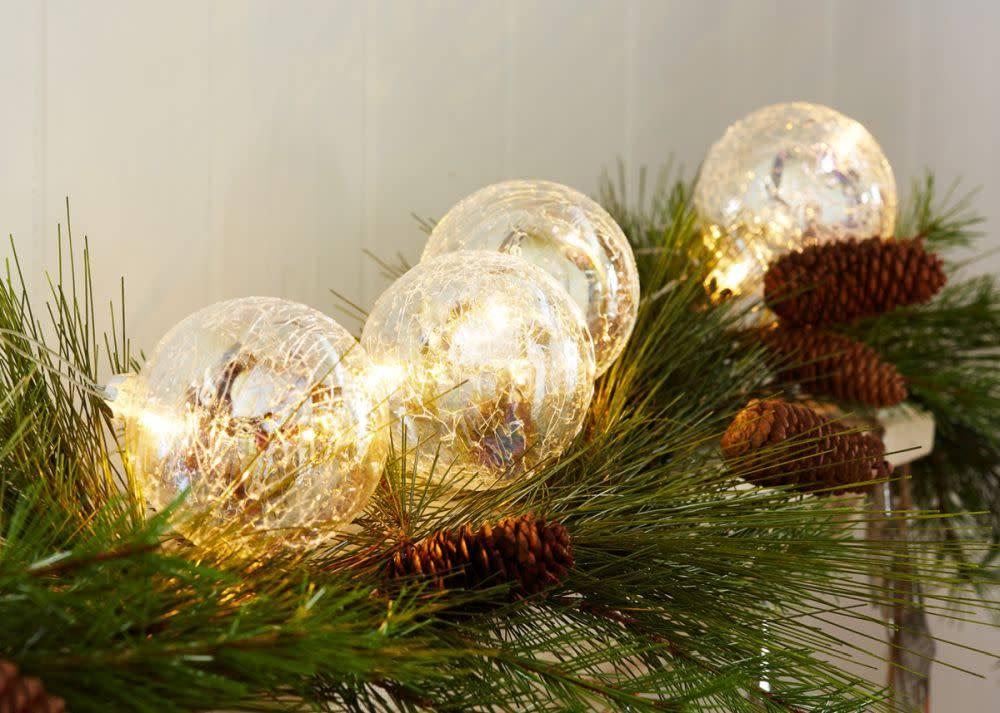 LED Iridescent Glass Ball Strand