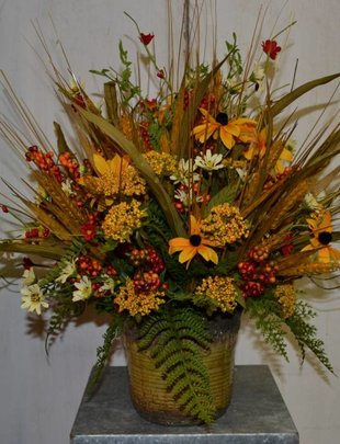 Custom Golden Wheat Arrangement