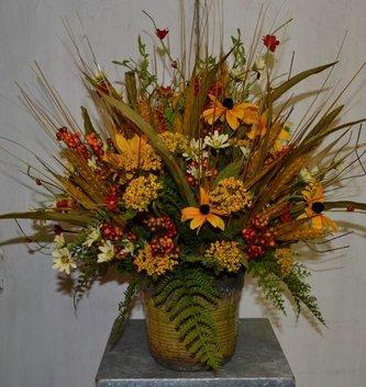 Custom Golden Wheat Arrangement
