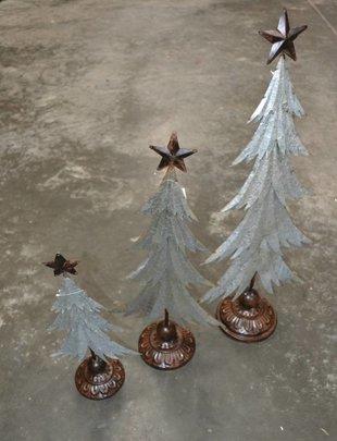 Textured Galvanized Tree (3 Styles)
