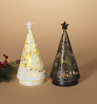 Spinning Christmas Tree Snow Globe Light (2 Colors)