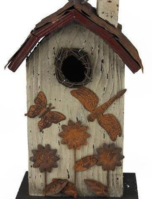 Rustic Sunflower Birdhouse (2 Styles)
