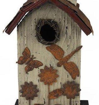 Rustic Sunflower Birdhouse (2 Styles)