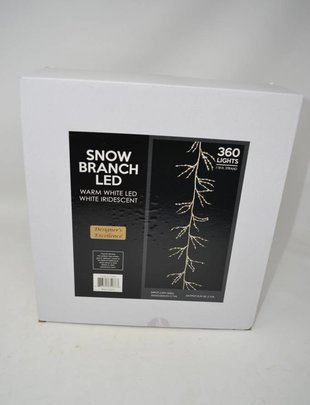 10-ft LED White Snow Branch Garland