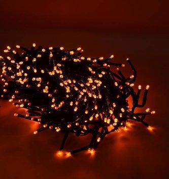 12.4-ft LED Orange Cluster Lights
