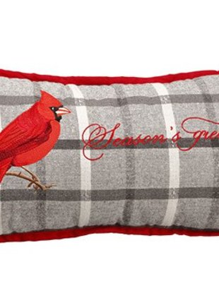Season's Greetings Cardinal Pillow