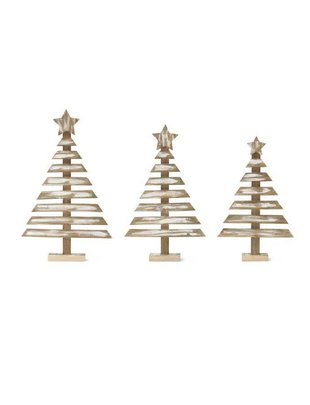 Whitewashed Wooden Christmas Tree (3 Styles)
