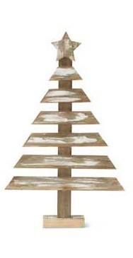 Whitewashed Wooden Christmas Tree