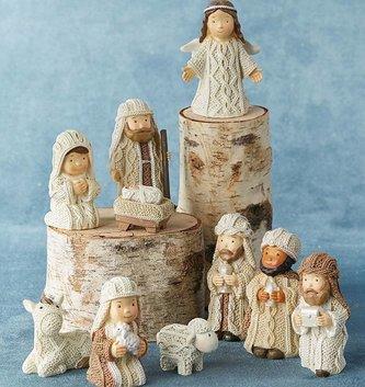 10-Piece Cable Knit Nativity Set
