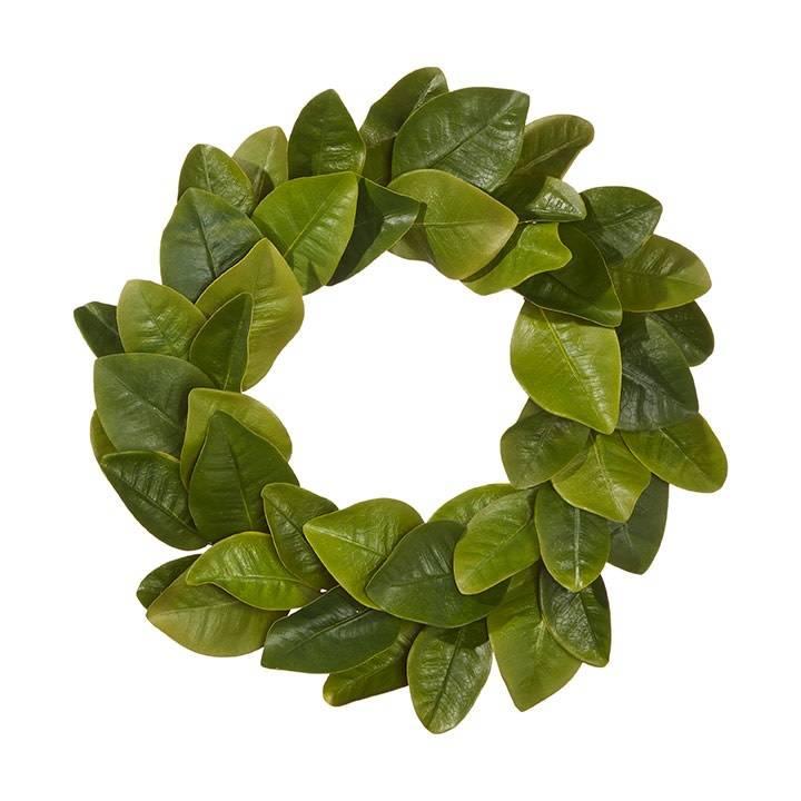 """19"""" Magnolia Leaf Wreath"""