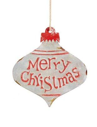 Merry Christmas Tin Ornament