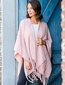 Blush Split Shawl