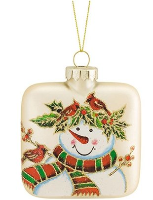 Square Snowman Ornament (2 Styles)