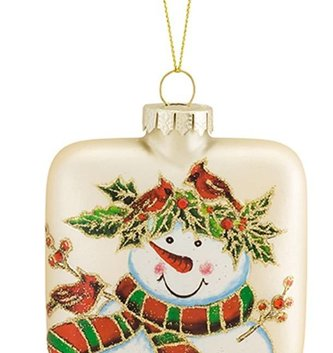 Square Snowman Ornament (2 Styles)