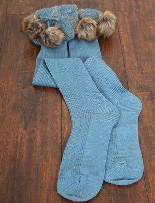 Sherlock Fur Boot Socks (4 Colors)
