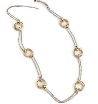Sliver & Gold Loop Necklace Set