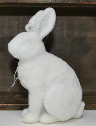 Fuzzy Winter Rabbit Ornament