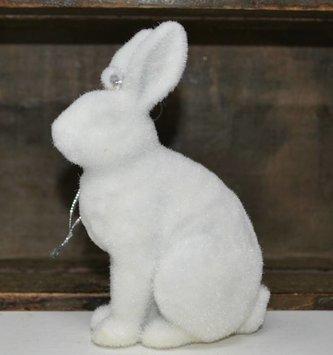 Fuzzy Winter Rabbit Ornament