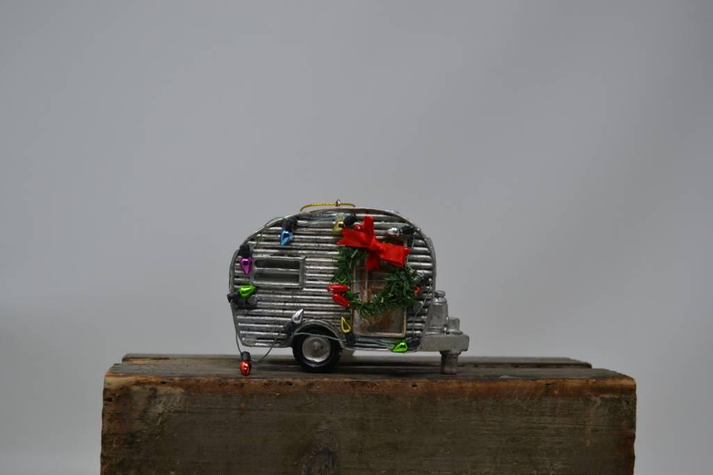 Retro Christmas Camper Ornament