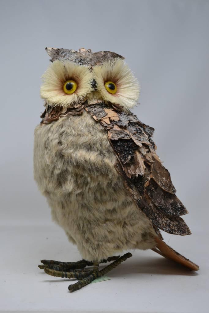"14.5"" Standing Birch Bark Owl"