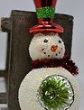 Top Hat Retro Snowman Ornament
