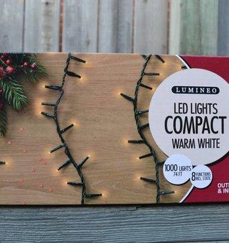 1000 Lumineo LED Warm White Compact Lights