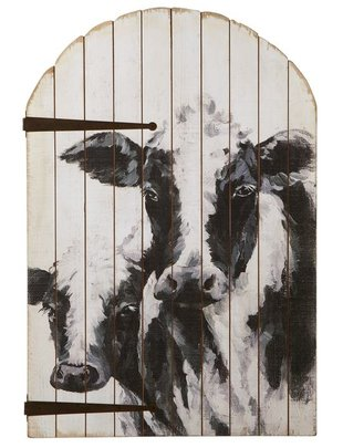 Arched Cow & Calf Wall Decor