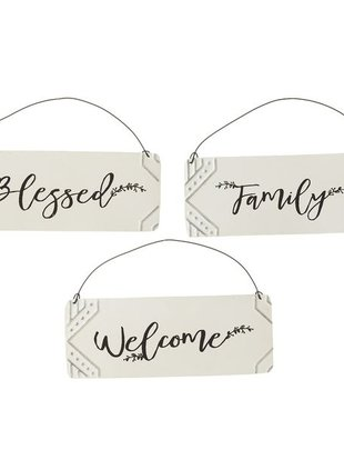 Metal Embossed Sign (3 Styles)