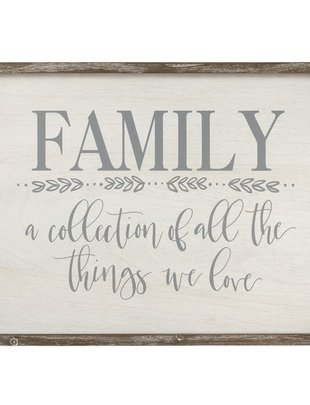 Wooden Framed Family Sign