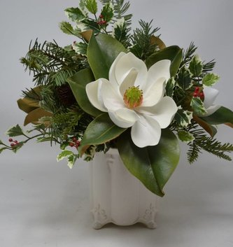 Custom Christmas Magnolia Arrangement