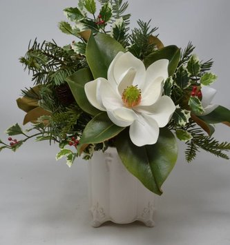Custom Christmas Magnolia Arrangement