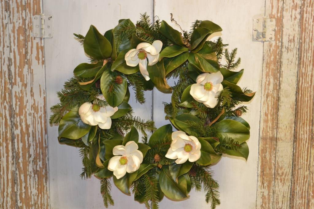 Custom Magnolia Pine Wreath