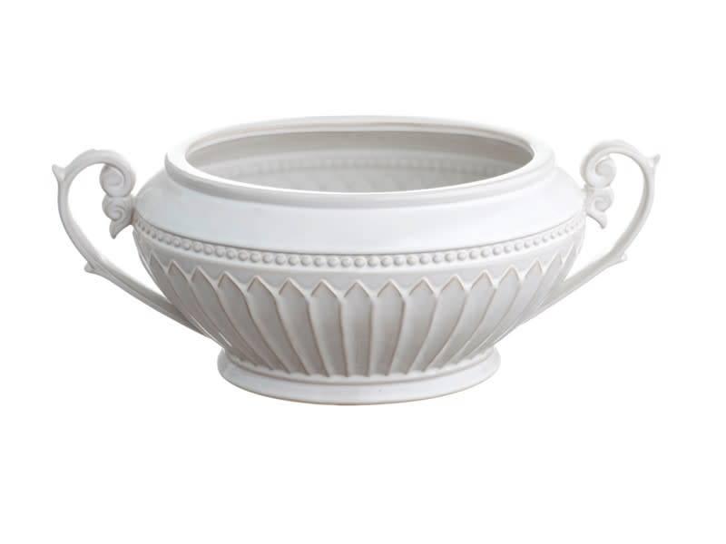 Cream Oblong Fluted Bowl