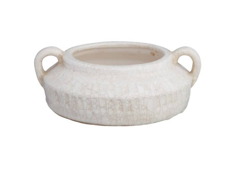 Double Handle Shallow Crackle Container