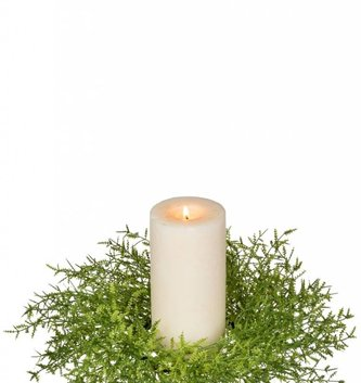 Feather Fern Candle Ring