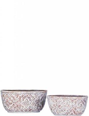 Oval Patterned Pot (2 Sizes)
