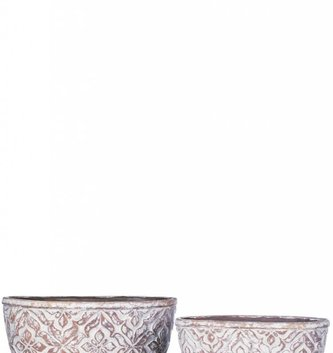 Oval Patterned Pot (2 Sizes)