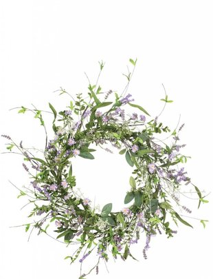Mixed Lavender Wreath
