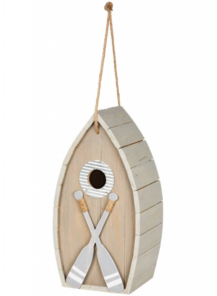 Gray Boat Birdhouse