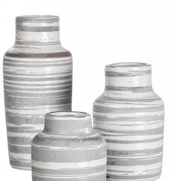 Gray White Stripe Bottle (3 Sizes)