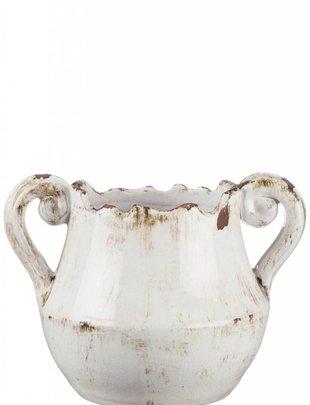 Double Handled White Vase