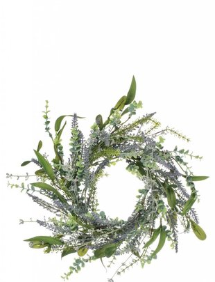 Lavender Greenery Candle Ring (2 Sizes)