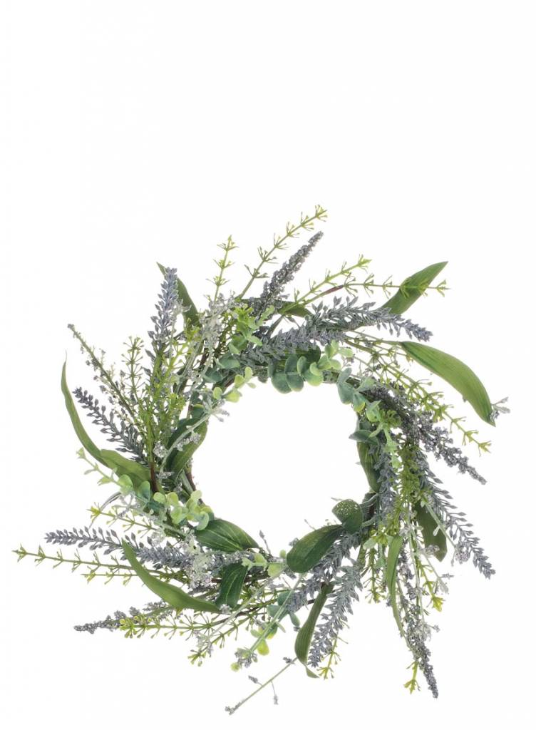 Lavender Greenery Candle Ring