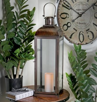 Antiqued Bronze Lantern