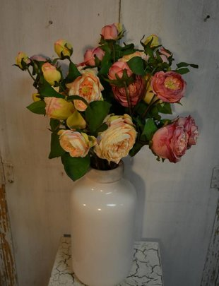 English Rose Spray w/ Bud (2 Colors)
