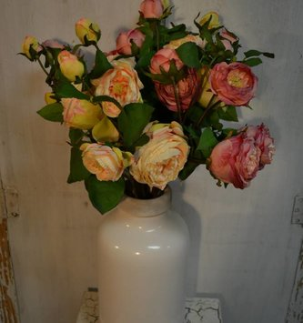English Rose Spray with Bud (2 Colors)