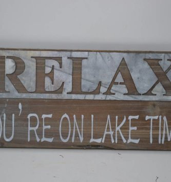 Wooden Galvanized Lake Sign (2 Styles)