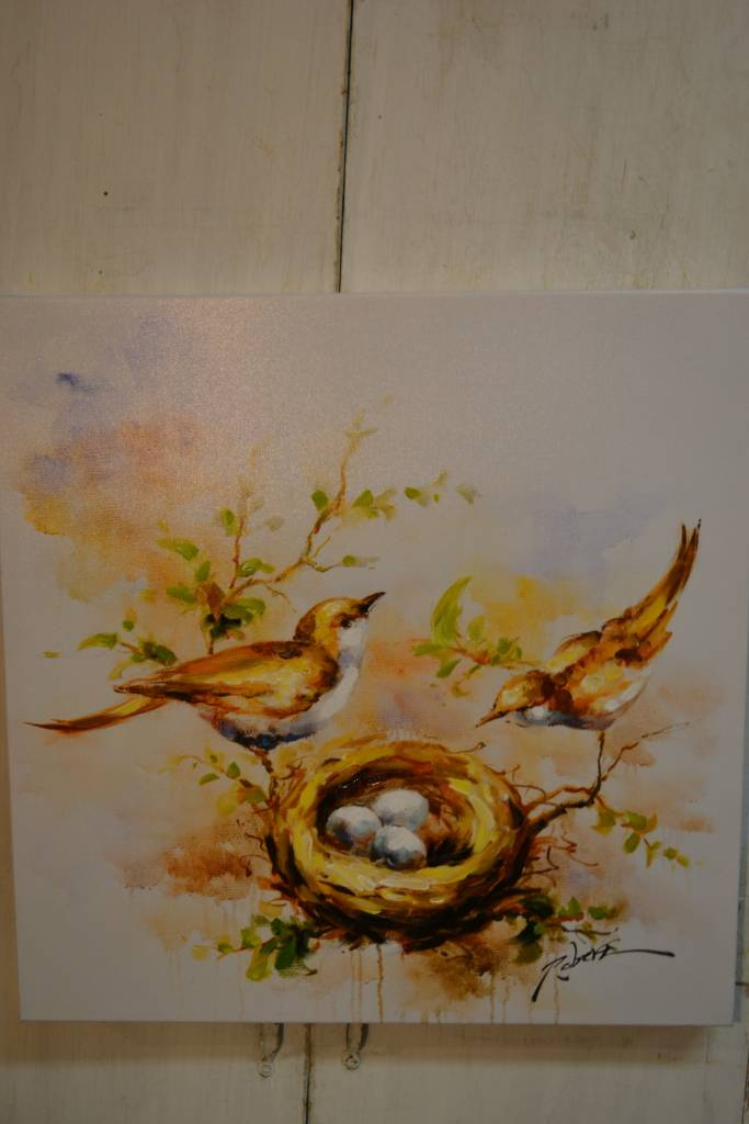 Wrens' Nest Painted Canvas