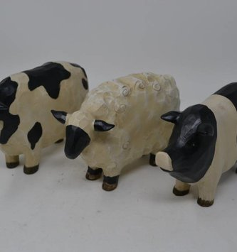 Carved Farm Animal (3 Styles)