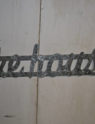 Galvanized Metal Lake House Sign